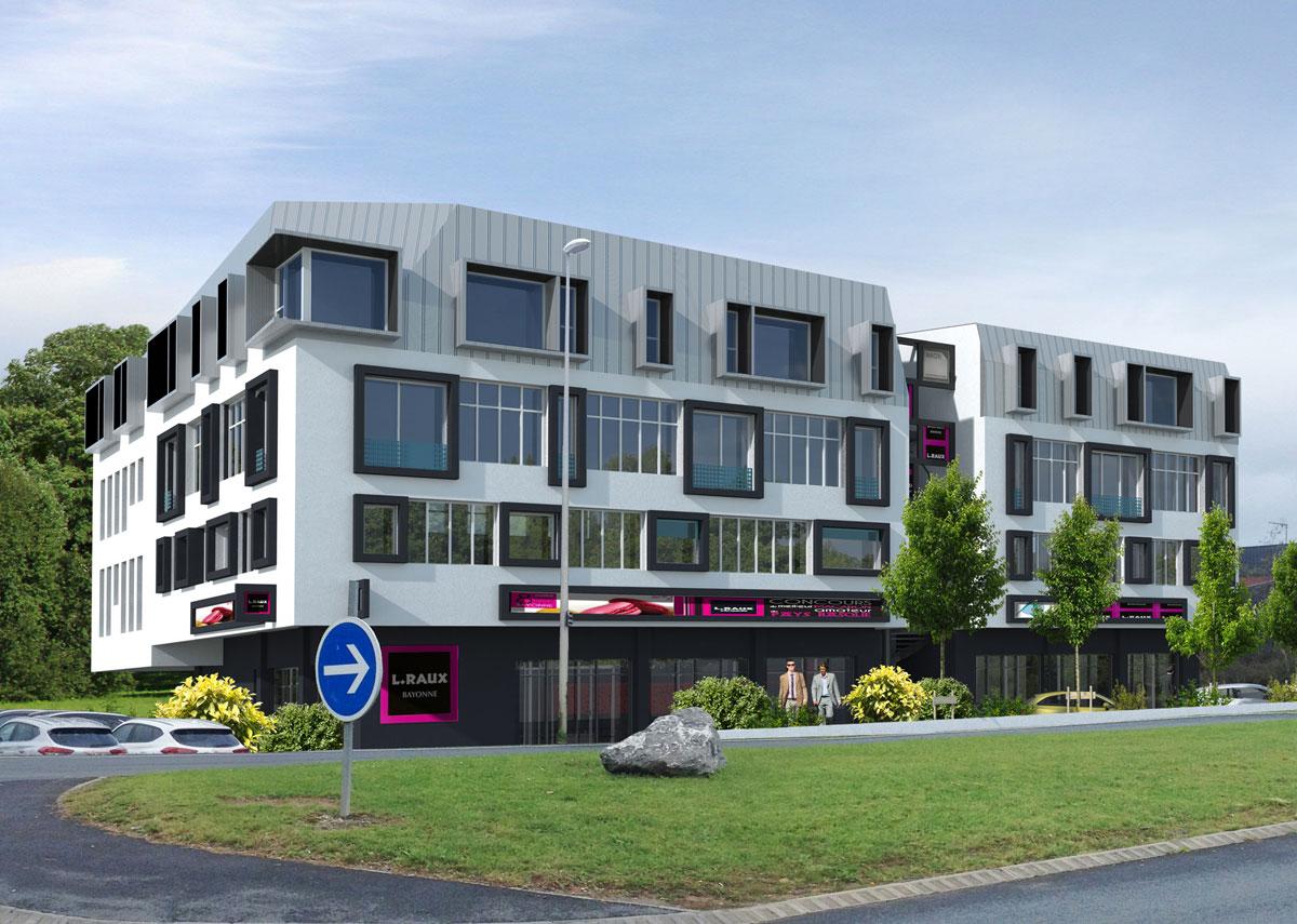 Immeuble le Prenium du constructeur immobilier Aedifim au Pays Basque