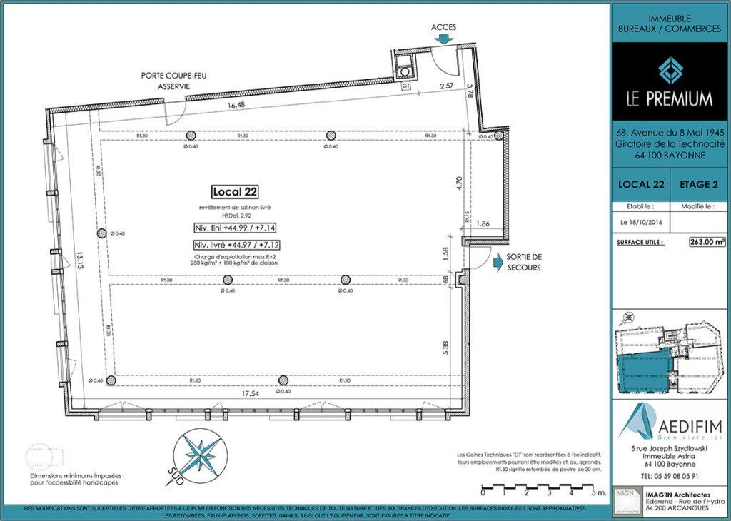 Programme immobilier neuf bureaux bayonne for Immeuble bureau plan