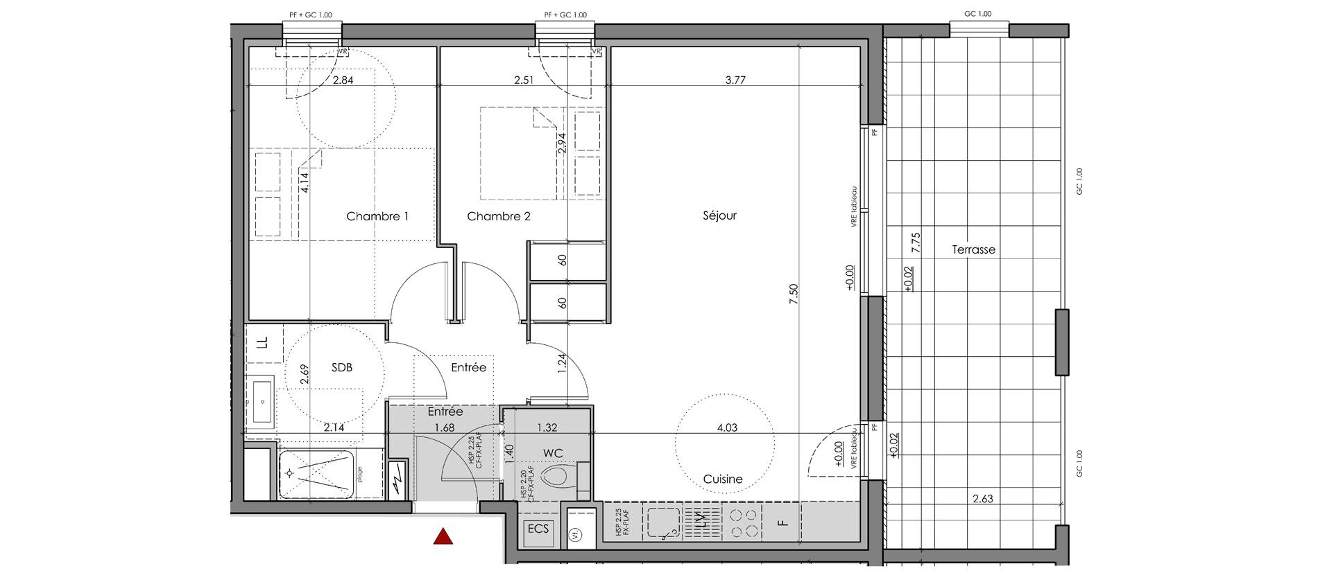 Plan VEFA du constructeur immobilier Aedifim au Pays Basque